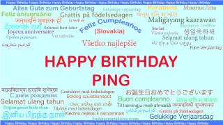 Ping   Languages Idiomas - Happy Birthday