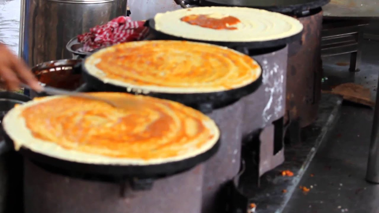Tasty butter masala dosa  -  Indian street food. Very very tasty Don't miss it.