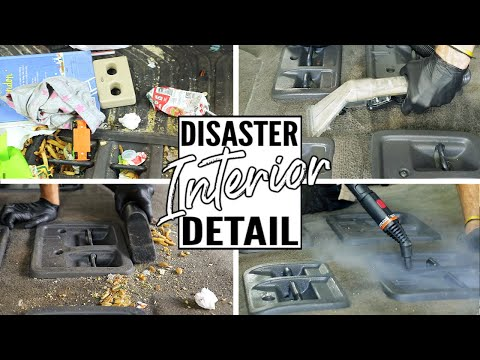 Complete Disaster Full Interior Car Detailing Transformation! Dirtiest Car Detailing Series Ep. 8