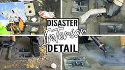 Complete Disaster Full Interior Car Detailing Honda Odyssey! Cleaning Dirtiest Van Interior Ever!