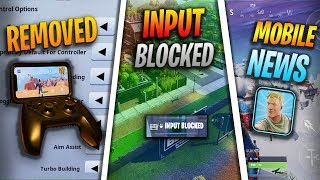 Fortnite Mobile News | Controller Support Removed, Input Blocked, HUD Updates, AND MORE!!