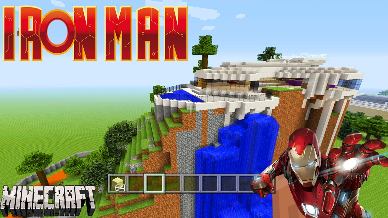 Iron man la maison sur minecraft visite serveur manukay28 for Maison d iron man