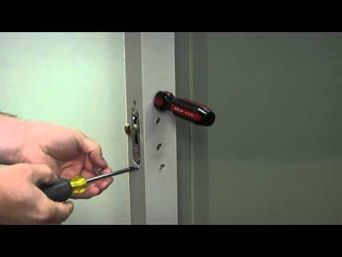 How to Replace the Single Mortise Lock on a Builders Vinyl Patio ...