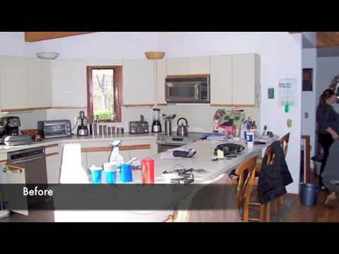 Kitchen Cabinet Refacing, Long Island - YouTube