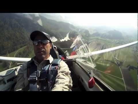 Vol En Planeur Sion/décollage Au Treuil Gruyère