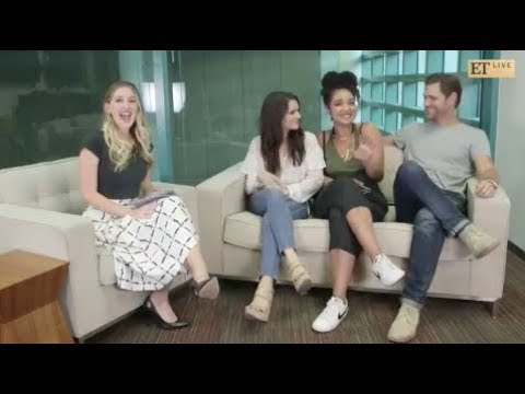 Cast of The Bold Type on ET Facebook Live 81517