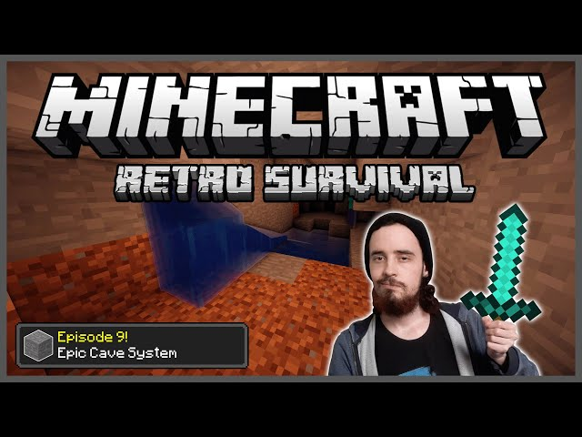 Minecraft: Retro Survival Let's Play [9] - Epic Cave System!