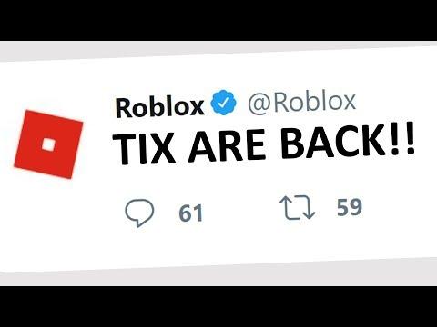 TIX ARE BACK IN ROBLOX PRANK!!