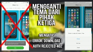 Cara Mengganti Tema dari Pihak Ketiga, Fix error: download|auth rejected 402