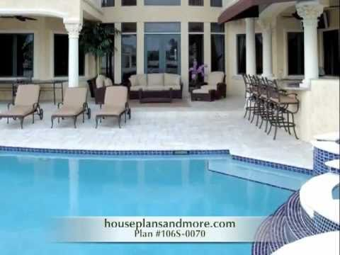 Luxury swimming pools video 1 house plans and more youtube for Plan for swimming pool