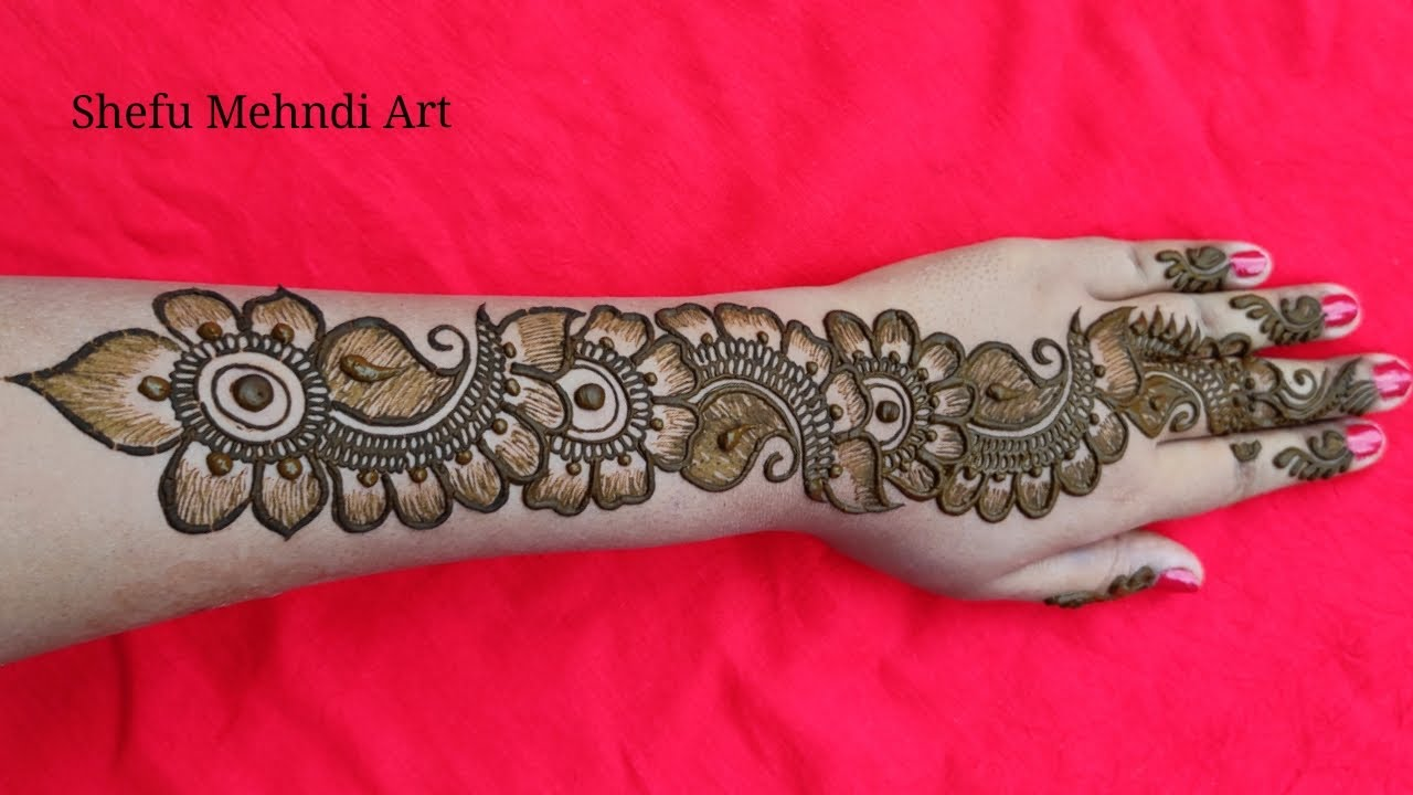 arabic mehndi design simple