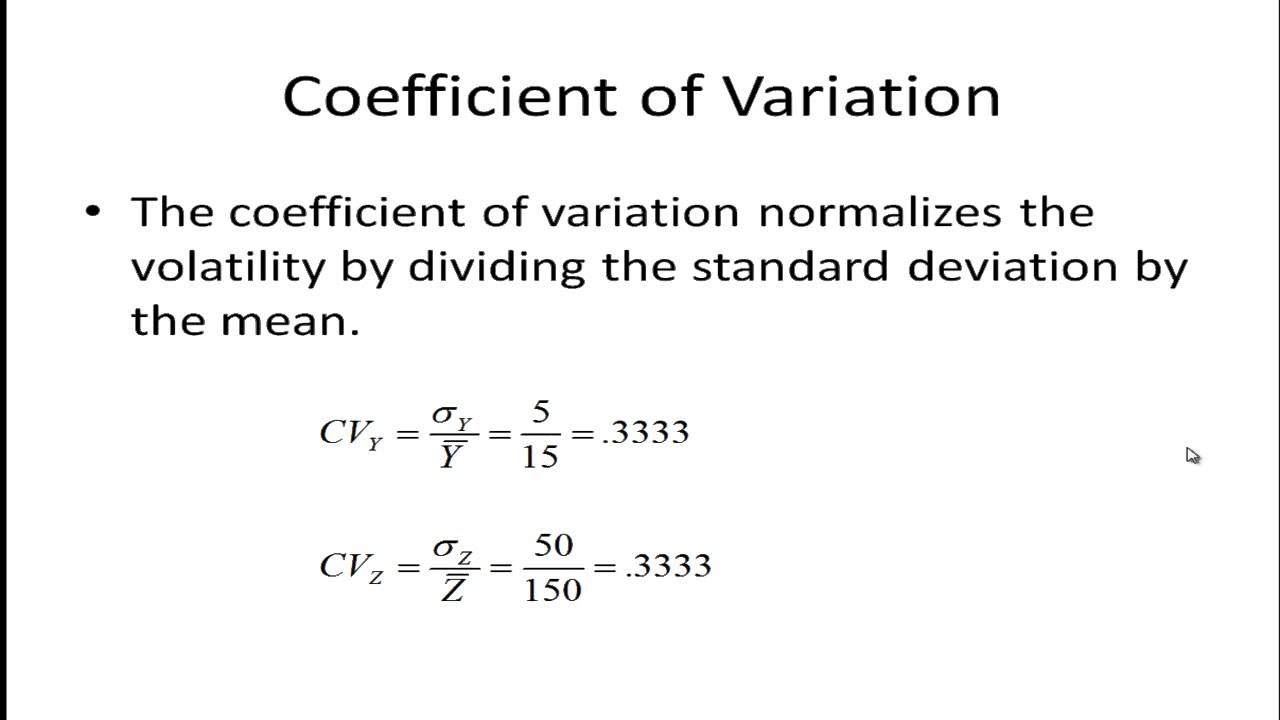 cv coefficient de variation