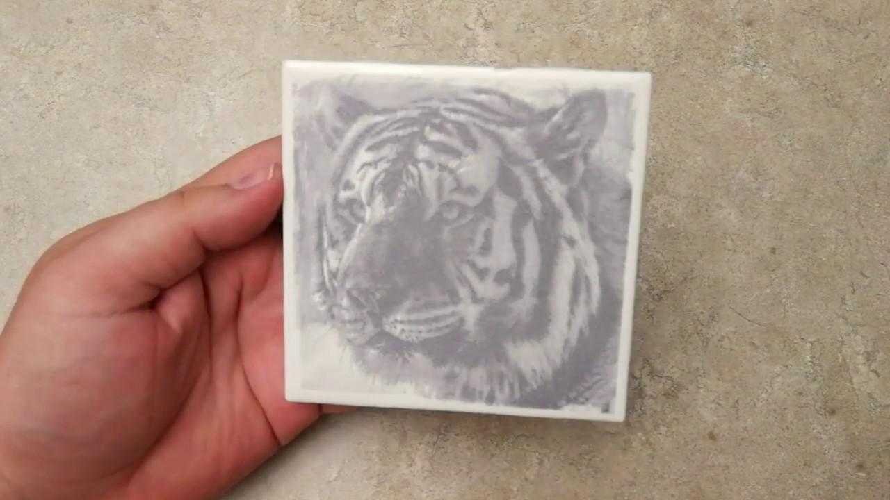 sharpie on laser engraved tile