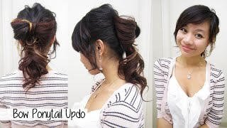 Valentine's Day Bow Updo