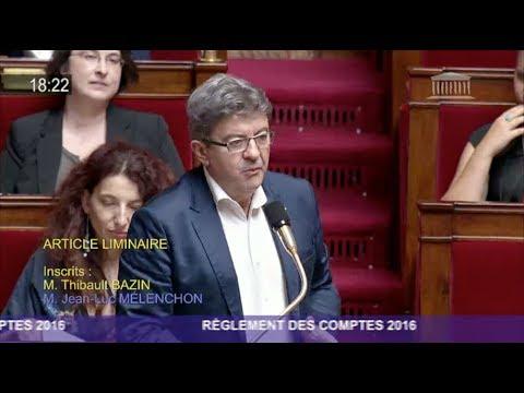 DÉBAT SUR LA DETTE À L'ASSEMBLÉE NATIONALE - Mélenchon