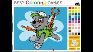 Мультик игра Щенячий патруль: Раскраска Рокки (Paw Patrol Rocky Coloring)