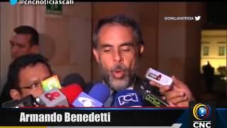 Armando Benedetti insultado en la calles de Bogotá