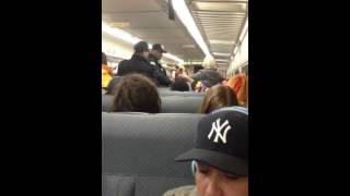 NJ Transit Cops Boot Crazy Lady off Train