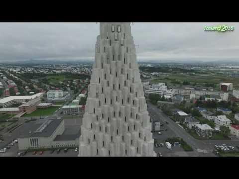 Iceland - Reykjavik - Hallgrimskirkja church, Drone - Phantom 3 Pro, 2016