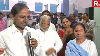 CM K Chandrashekar Rao And CM Mamata Banerjees Joint Press Conference After Federal Front Meeting