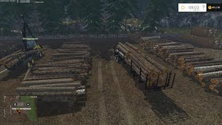 Farming Simulator 2015 Logging with Moose on RockWood