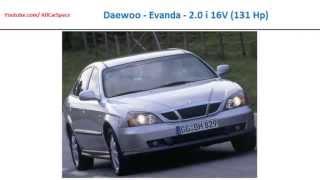 Daewoo - Evanda - 2.0 i 16V (131 Hp), Car Full Specs List