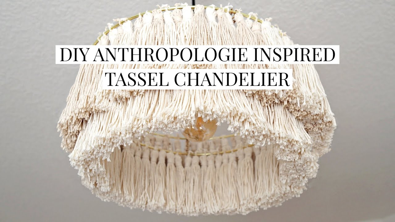 DIY Tassel Chandelier | Anthropologie Inspired and Hardwired