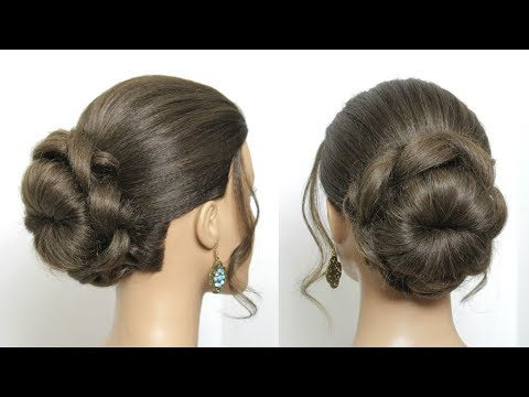 Simple Flower Bun Hairstyle Tutorial