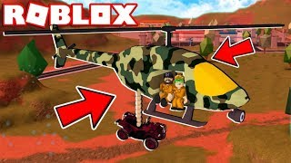TRANSPORTING ATV TO THE JAIL WITH HELICOPTER in ROBLOX JAILBREAK (1 an an an ananversary)
