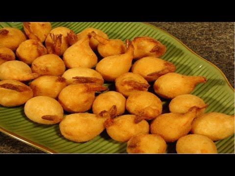 Produção de Salgados Finos para Festas - Receita de Camarão Empanado