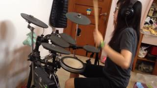 Practicing drum on Kis-My-Ft2's song Double Up (Nikaido Takashi 二...