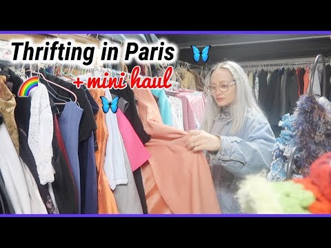 COME THRIFTING WITH ME IN PARIS + MINI HAUL (French/English subs)