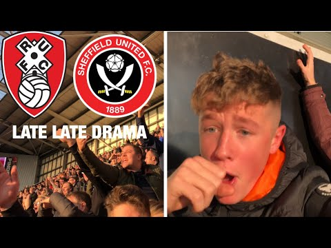 LATE LATE DRAMA *VLOG* Rotherham vs Sheffield United