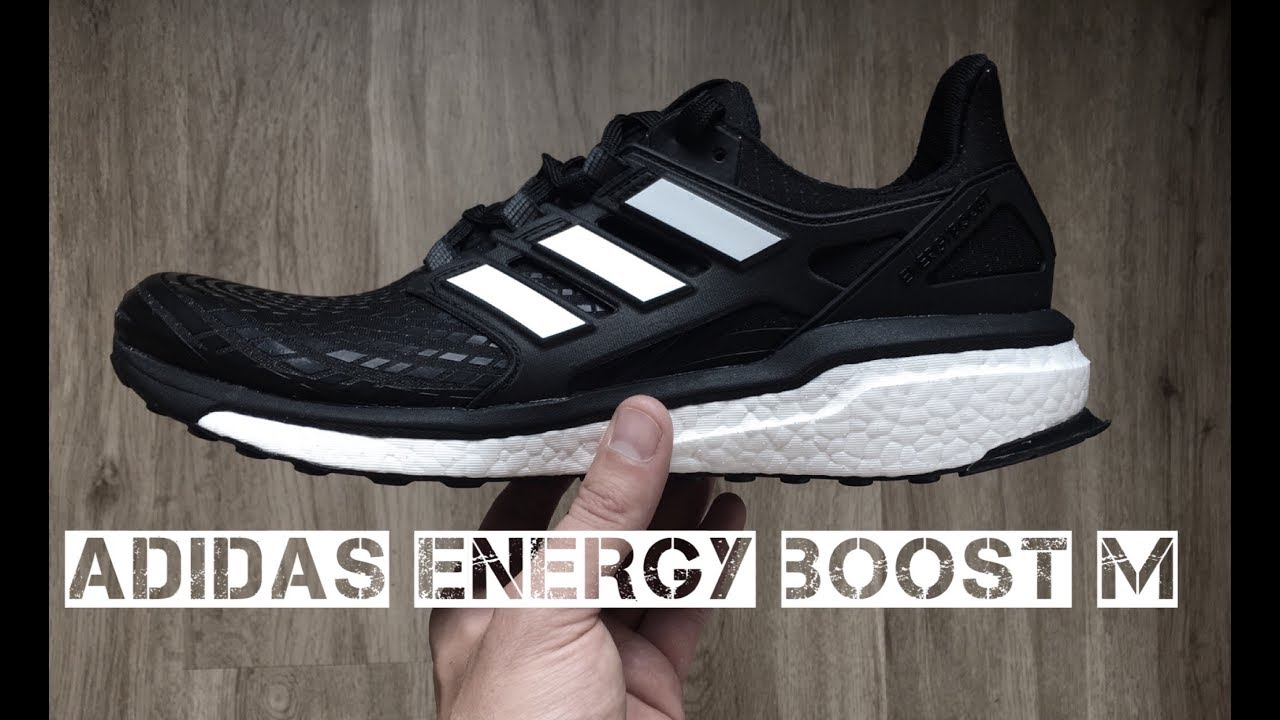 Adidas Energy Boost M Core Black Footwear White Unboxing On