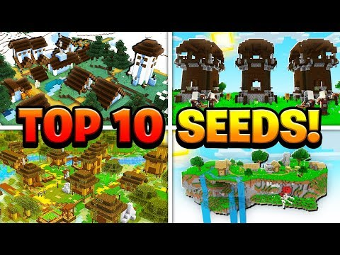 TOP 10 BEST NEW SEEDS for Minecraft! (Pocket Edition, PS4, Xbox, Switch, PC)