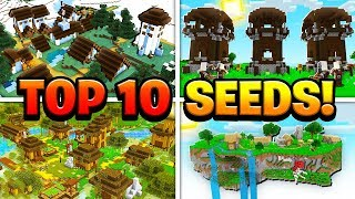 TOP 10 BEST NEW SEEDS for Minecraft 1.11.3! (Pocket Edition, PS4, Xbox, Switch, PC)