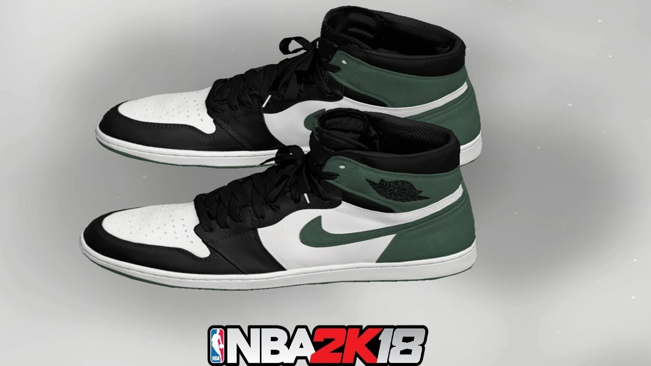 0283afdeea5cdc NBA 2K18 Shoe Creator ⋆ NBA2K18⋆ Jordan 1 Clay Green - YouTube