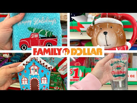 FAMILY DOLLAR SHOPPING!!!🎄$1 To $5 CHRISTMAS DECOR!!!