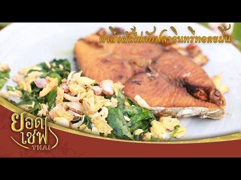 ยอดเชฟไทย (Yord Chef Thai) 07-01-18 : ปลาอินทรีทอดน้ำปลากับตำลึงผัดไข่