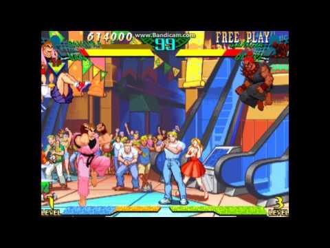 Marvel Super Heroes VS Street Fighter: Secret Fight With Dark Sakura!