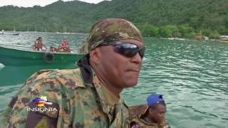 Lanchero panameño en acción en frontera con Colombia