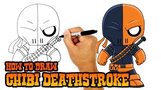 How to Draw Deathstroke (Chibi)- Art Lesson for Kids