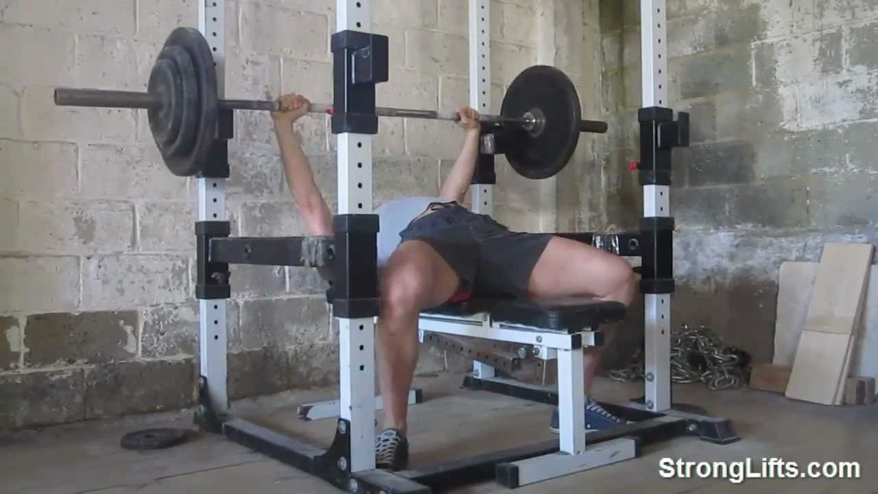 How To Bench Press Stronglifts Shows Proper Bench Form