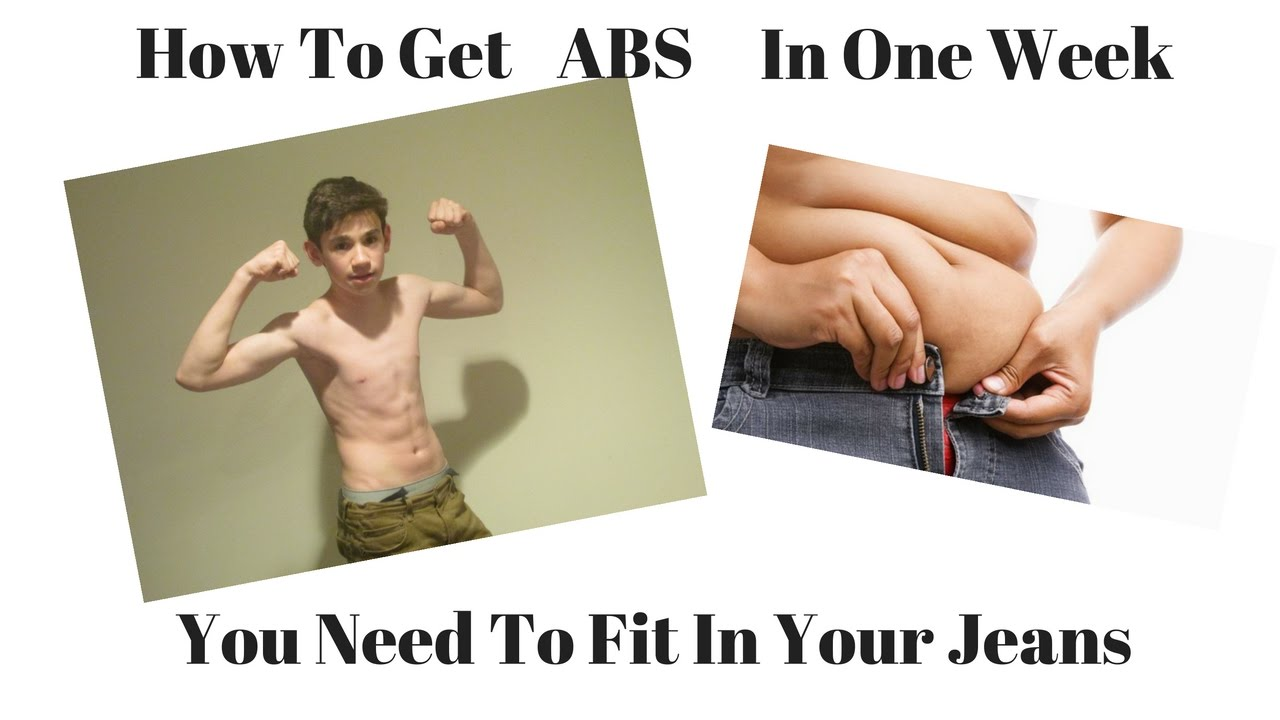 How To Get Abs In One Week!
