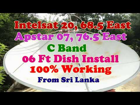 Intelsat 20 68.5 East ,Apstar 07 76.5 East ,06 Ft Dish Install,Animal Planet HD and Sony Pacakge On