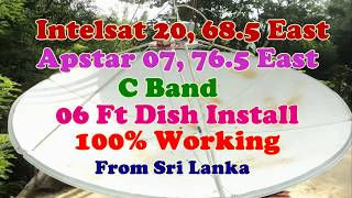 intelsat20 68 5 east apstar 07 76 5 east 06 ft dish install animal planet hd and sony pacakge on