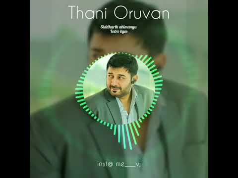 Thani Oruvan BGM | Siddharth Abimanyu Intro Scene | Mass BGM