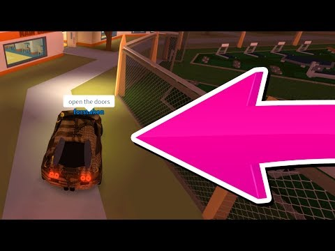 GETTING CARS INSIDE THE ROBLOX JAILBREAK PRISON!!