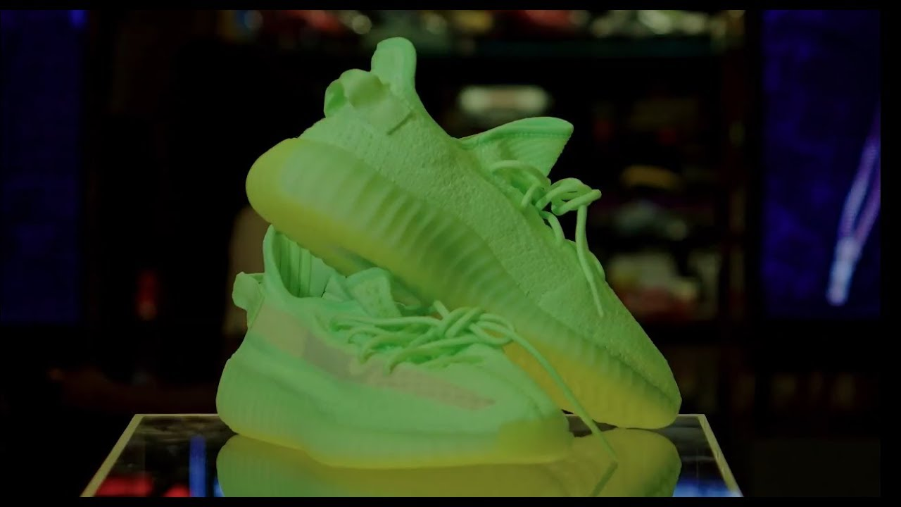 Real VS fake Adidas Yeezy Boost 350 V2 Glow Glow In The