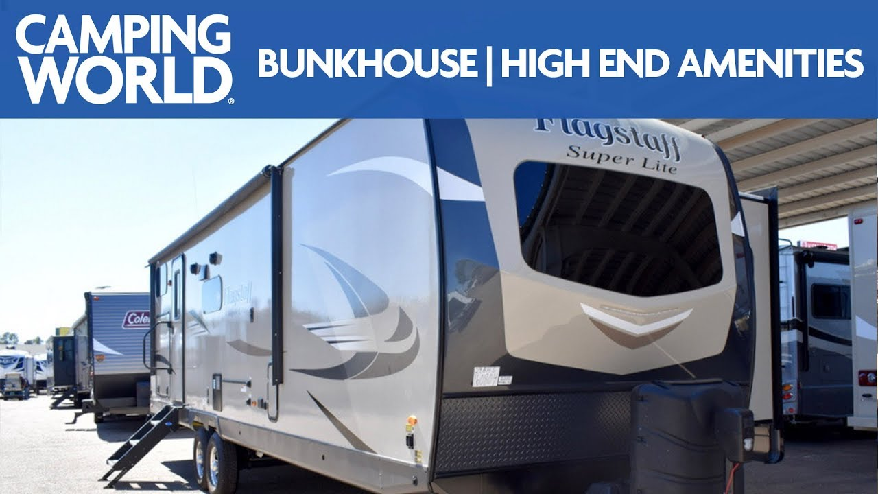 2019 Forest River Flagstaff Super Lite 29bhs Bunkhouse Travel Trailer Rv Review Youtube